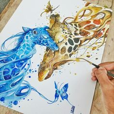 """Fabulous Watercolor Paintings by Luqman Reza Mulyono – Jongkie, Indonesian Artist      Tranh màu nước cực đẹp của Luqman Reza Mulyono - Jongkie, nghệ sĩ In-đô    Luqman Reza Mulyono from Indonesia, also known as """"Jongkie"""" on social  media is a watercolour painter and an illustrator who uses a splash-like  theme of different colours to make beautiful images that bring out  emotion to the eye. Many individuals request commissions or  pay for portraits to be done of themselves but the…"""
