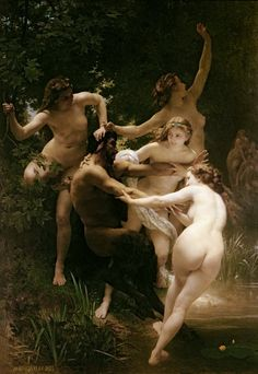 William Adolphe Bouguereau - Nymphs and Satyr