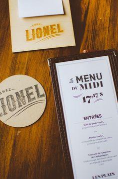 Chez Lionel restaurant brand identity