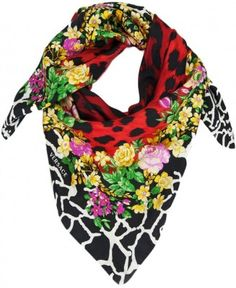 Floral Safari -The perfect square Perfect sizing for supreme comfort and warmth 100 % Pure Silk Screen printed,design, colour and knotting style, be unique! Finished with the Versace logo,it will lend an instant designer touch to your look Made in Italy 100% Authenticity Guaranteed or Money back Comes in original Versace gift sleeve   Color: Red   Color Class: Red   Pattern: Animal Print   Measurements: W 36in   in x L 36in   Material: 100% Silk   Care instructions: Dry clean only   Made in…