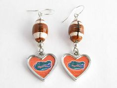 Florida Gators Ceramic Football Earrings Jewelry Uf   eBay
