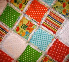 Custom Rag Quilt You choose the fabric by henryandzoe on Etsy