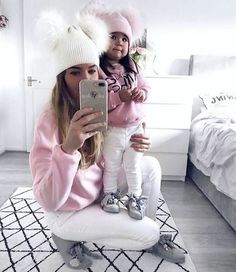 This pin was discovered by samantha. Mom Daughter Matching Outfits, Mommy And Me Outfits, Girl Outfits, Fashion Kids, Toddler Boy Gifts, Toddler Girls, Mother Daughter Fashion, Cute Toddlers, My Baby Girl