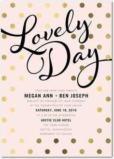 Perfectly Lovely - Signature Foil Wedding Invitations - Magnolia Press - White : Front
