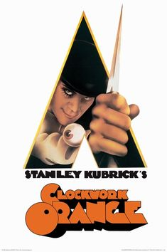 Bring the iconic film to your walls with this officially licensed Clockwork Orange poster. Straight from the Stanley Kubrick masterpiece, this movie poster features Alexander reaching out with a knife. Stanley Kubrick, Cult Movies, Movies To Watch, Good Movies, Indie Movies, Action Movies, Posters Wall, Poster Prints, Movie Posters