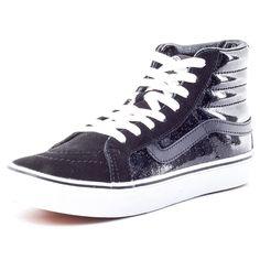 Vans U Sk8-Hi Slim Patent, Damen Sneaker, Schwarz - Negro - Größe: EU 36.5 (US 5)