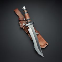 This Dai Combat Tactical Bowie is made by hand in England from a full-tang blade of Japanese Tool Steel, then hand ground to perfection by expert-skilled craftsmen. After the blade is ground and shaped, it is vacuum-tempered to bef.