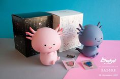 """Oh, my dayz so much cuteness to brighten up your Monday. Thank Miguel Basurto and Chakaltois for bringing you the news of their newborn vinyl toy """"SAVAGE"""" we're sure its savage to our bank account. Taking the adorable Axolotl and designing an adorable Miguel Basurto style Axolotl vinyl (don't worry, no need to feed SAVAGE) SAVAGE by Miguel Basurto and produced in Mexico by Chakaltois. Judging from the photos it looks like SAVAGE is a bargain for the whole package and who can..."""