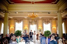 The glorious Central Hall at Hampton Court House makes for a stunning setting for a wedding ceremony. Wedding Venue Decorations, Wedding Venues, Wedding Ceremony, Tony Hart, Hampton Court House, Central Hall, Courthouse Wedding, Wedding Goals, Real Weddings