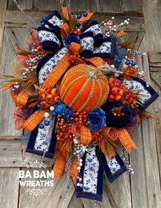 Tulle Wreath, Wreath Fall, Autumn Wreaths, Seasonal Decor, Fall Decor, Fall Swags, Creative Box, Wreath Supplies, Thanksgiving Wreaths