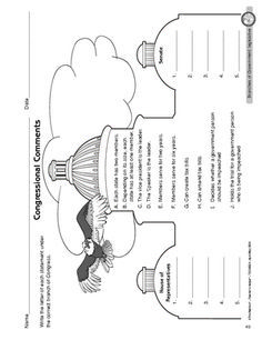 Worksheet: legislative branch of government Has more worksheets too. Below grade level but good filler if need/sub day
