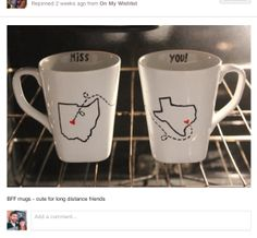 DIY State Mugs - cute gift idea for long distance friends, family, significant other