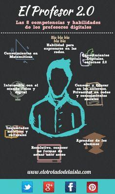 8 Competencias del Profesor 2.0 #educación #profesor #tendencias