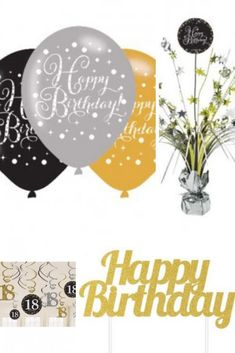 Buy Best Birthday Gold Celebration at competitive prices in UK. Explore range of Birthday Gold Celebration and more from Go International UK - Your Premium Party supplies. Balloons And More, Black Balloons, Party Plates, Party Cups, Love Balloon, Balloon Ideas, It's Your Birthday, Happy Birthday, Artificial Garland