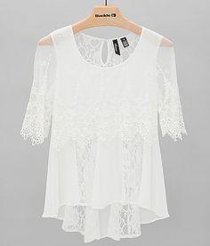 BKE Boutique Pieced Lace Top