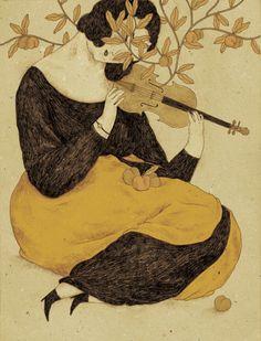 Drawings by Torino-based illustrator Monica Barengo. More images below. Monica Barengo's Website Music Illustration, Retro Illustrations, Whimsical Art, Pablo Picasso, Art Plastique, Art History, Art Inspo, Collages, Watercolor Art