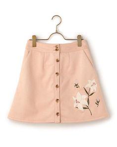 フェイクスエード台形スカート