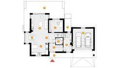 DOM.PL™ - Projekt domu PE Przemek CE - DOM NS1-31 - gotowy koszt budowy Floor Plans, My Dream House, Build House, Floor Plan Drawing, House Floor Plans