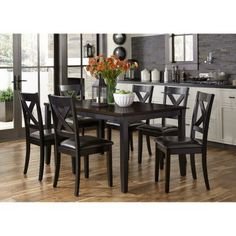 Liberty Furniture Industries Thornton II 7 Piece Rectangular Dining Table  Set