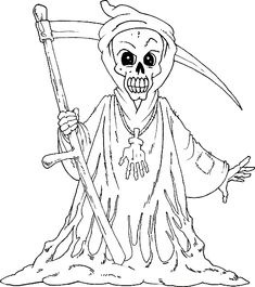 Halloween Coloring Pages Grim Reaper - Boys Coloring Pages, Halloween On do Coloring Pages