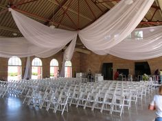 ways to swag pipe and drape backdrop | 12 Panel Ceiling drape 40 feet - $2050 (includes setup and pickup)