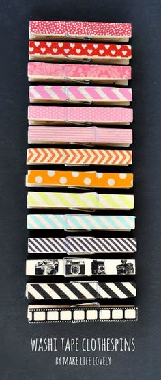 Washi Tape Clothespins Tutorial - Make Life Lovely