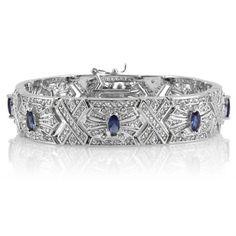 Melinda's Blue CZ Vintage Bracele