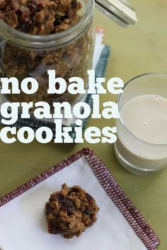 Granola No Bake Cookies - Stir and Scribble