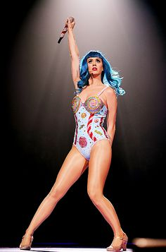 @Katy Perry's California Dreams Tour Costumes: The theme was Candyland, so it's fitting that the pop star performed in a sugar-coated leotard. http://news.instyle.com/photo-gallery/?postgallery=61408