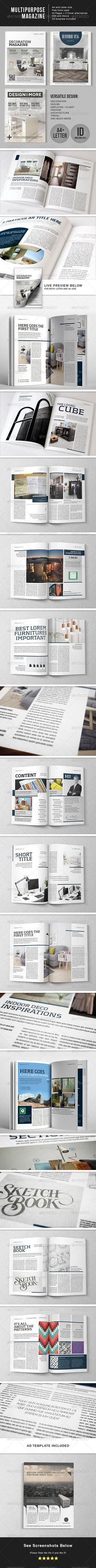 Multipurpose 44 Page Magazine Template Letter Magazines Print Templates