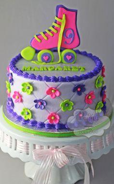 Roller skate cake - butter cream with fondant detail.