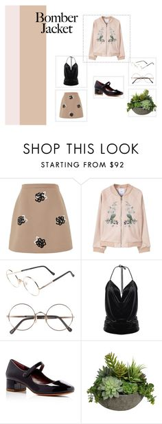 """""""Summer Bomber Jacket"""" by opus37 ❤ liked on Polyvore featuring Christopher Kane, MANGO, Sunday Somewhere, Marc Jacobs, Diane James and bomberjackets"""