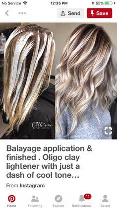 Color me pretty Hair Color And Cut, Cool Hair Color, Hair Colors, Blonde Hair Looks, Hair Color Techniques, Blonde Balayage, Great Hair, Hair Highlights, Hair Dos