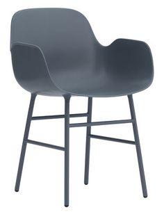 Fauteuil Form / Pied métal Bleu - Normann Copenhagen - Décoration et mobilier design avec Made in Design