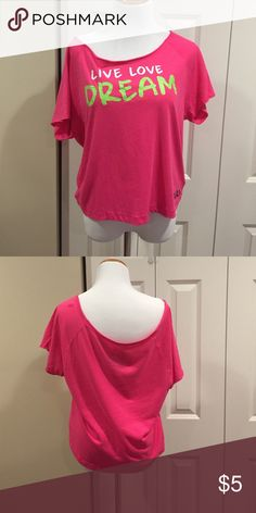 Off the Shoulder Top This top is in previously loved condition. It has some pilling on it. It's very comfy and soft though. Great for Sunday Funday! Aeropostale Tops Tees - Short Sleeve