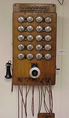 Model: 10 Station Wall Switchboard  Made by: Western Electric Co.  From: circa 1915
