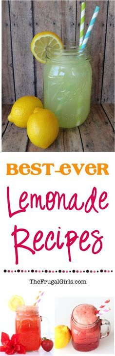 Best Ever Lemonade Recipes! ~ from http://TheFrugalGirls.com ~ you'll love these delicious variations of your favorite classic, including the BEST Strawberry Lemonade and Punches! #recipe #thefrugalgirls