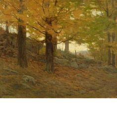 """""""Yellow Leaf,"""" Charles Warren Eaton, oil on canvas, 20 x 24"""", private collection."""
