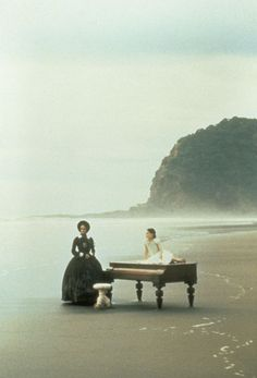 """Movie still from The Piano. """"There is a silence where hath been no sound, There is a silence where no sound may be, in the cold grave -- under the deep, deep sea..."""" ~Thomas Hood"""
