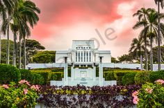 Laie Temple Heavenly Paradise - The Laie Hawaii Temple is often thought of as a heavenly paradise, and this photo depicts nothing less. Fine Art Photography, Amazing Photography, Hawaii Temple, Lds Temples, Mormon Temples, Lds Temple Pictures, Temple Wedding, Rule Of Thirds, Cool Pictures