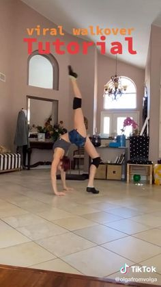 Gym Workout For Beginners, Gym Workout Tips, Fitness Workout For Women, Fitness Workouts, Workout Challenge, Workout Videos, Gymnastics Tricks, Gymnastics Skills, Gymnastics Workout