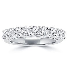 1.20 ct Round Cut Diamond Wedding Band Ring in Prong Setting in 14 kt White Gold In Size 15 Madina Jewelry http://www.amazon.com/dp/B00M4PSNQW/ref=cm_sw_r_pi_dp_MvSVub0NVCHJF