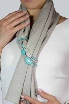 Sciarpa cotone sciarpa grigia sciarpa gioiello stola