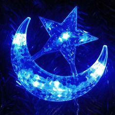 4M LED Moon Star Christmas Party Decor Bar Indoor String Fairy Curtain Light