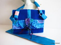 Clutch-Tasche, Handtasche gehäkelt und genäht von Inge's Edelweiß auf DaWanda.com