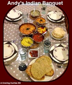 Andy made a craving Curries banquet - Looking good! Indian Curry, Curries, Banquet, Cravings, Dishes, Design, Curry, Tablewares