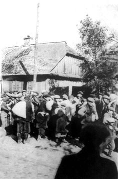 September 27, 1942. Deportation of Jews from Parysow, Poland. The Germans captured Parysow on September 17, 1939 and established a Judenrat a month later. A ghetto was set up in November 1940. The ghetto was liquidated on September 27, 1942, when its 3,500 inhabitants, including 2,000 refugees, were deported to Treblinka Death Camp.