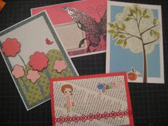 Hand made cards with stickers