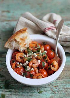 Традицицонный средиземноморский рецепт с креветками и фетой