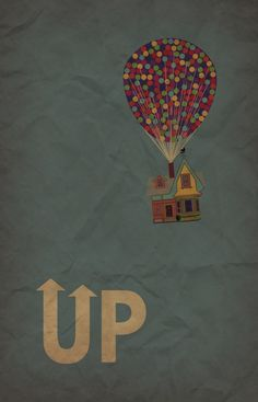 UP movie poster - minimalist redesign